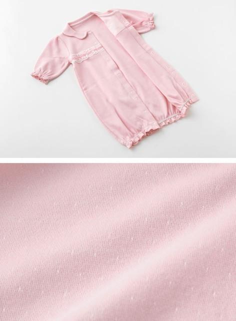 9aa6970d6d2e3 ベビー服 赤ちゃん 服 ベビー ツーウェイオール 女の子 ギフト  スウィートガール スワン刺繍リボン新生児
