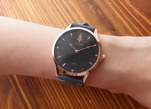new style d64ab 5a93d 【KING HOON】プチプラ 腕時計 メンズ レディース シンプル ユニセックス ビッグフェイス 革 レザー ベルト ウォッチ 時計 au  Wowma!(ワウマ)