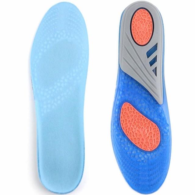 柔らかく 歩きやすい インソール 中敷き 衝撃吸収 ゲル素材 ゲル ジェル 高い通気性 スポーツ ウォーキング 街歩きに メンズ レディース