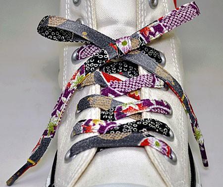 メール便 和柄靴ひも 柄多数ちりめん靴紐ノーマル おしゃれなメンズレディーススニーカーくつひも クツヒモ  日本製シューレース(色143)の通販はWowma!