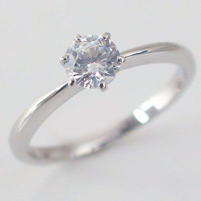 【今日の超目玉】 鑑定書付 ダイヤモンド プラチナ 婚約指輪 エンゲージリング ダイヤ 0.5ct D-VS1-EX 6本爪 立爪 Pt900, Natural RICE&PASTA 4cb54e2b