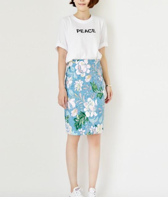 ◆フラワータイトスカート 花柄 タイトスカート タイトスカート 大きいサイズ フラワー スカート 春 夏 jennyandflat