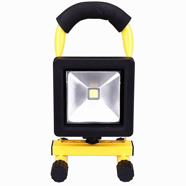 送料無料 充電式 10W LED投光器 昼光色 ポータブル投光器 コードレス投光器 LED作業灯 作業灯 ワークライト 充電式ライト 薄い型 看板灯
