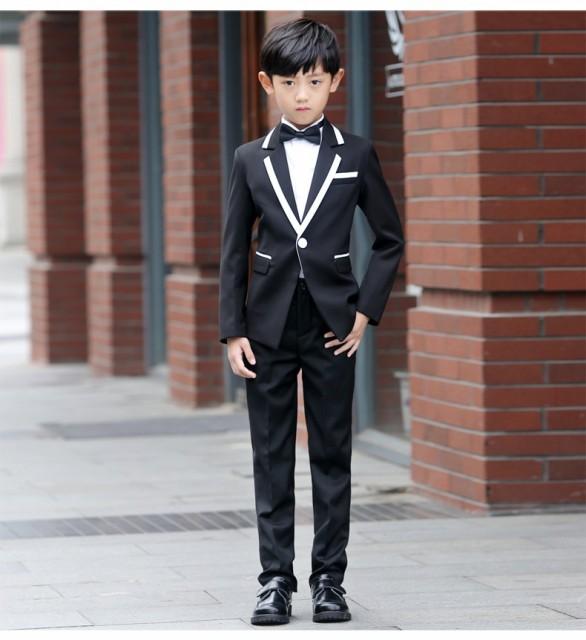 47fda2aa4c952 韓国スタイル 着痩せ 5点セットキッズ 子供スーツ 大人気 男の子 卒業式 フォーマルスーツ 成人