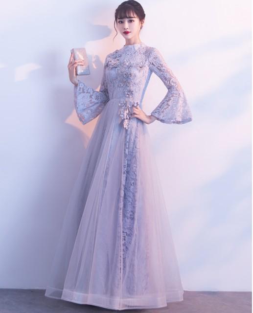 306756fda162a ウェディングドレス 結婚式 花嫁 二次会 パーティードレス プリンセスライン ブライダル 素敵 ワンピース大きいサイズ長袖