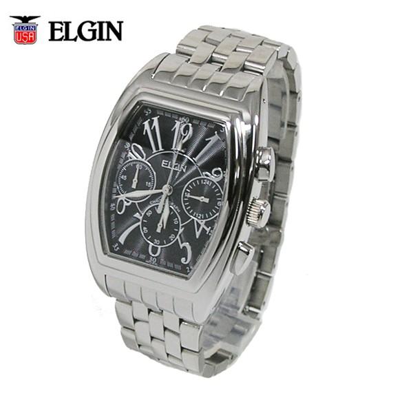 c56279ef37 送料無料 エルジン/ELGIN クロノグラフ トノー型 メンズ腕時計 FK1215S-B ...