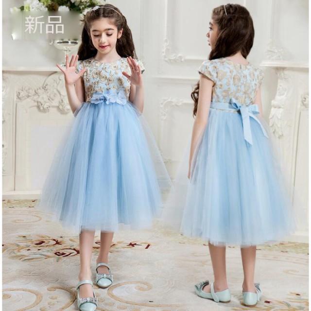 855797b20a987 新品子供ドレス フォーマル ピアノ発表会 キッズ ジュニアドレス 子供服 女の子 ワンピース 七五三 結婚