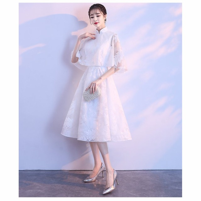 86ea998679694 パーティードレス 袖あり 結婚式 ドレス大人 ドレス ウェディングドレス ドレス パーティドレス お呼ばれドレス