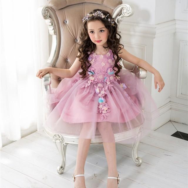 6289d39bd757c 子供ドレス チューチュー ピアノ発表会 結婚式 フォーマル キッズ 女の子 七五三 パーティードレス ジュニアドレス