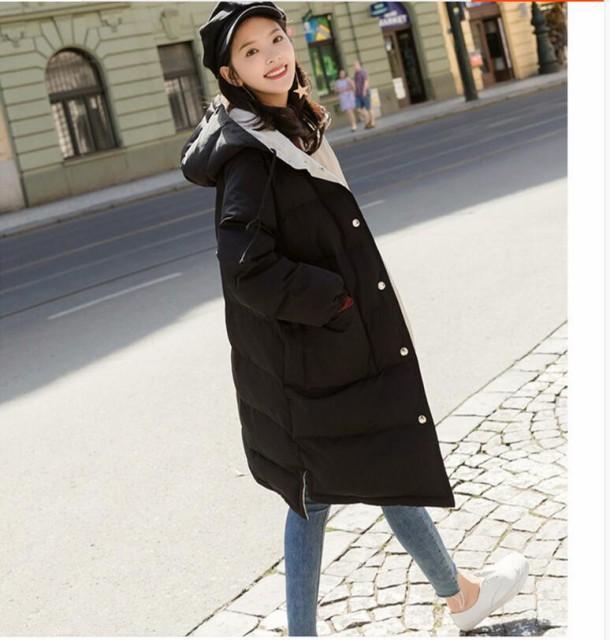 リバーシブル ダウンコート 防寒 レディース アウター ロングコート 両面着れる服 中綿ダウンコート  無地 冬服