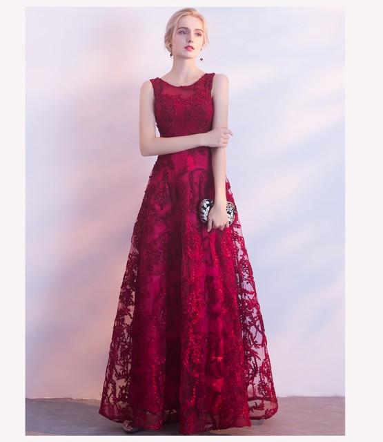 ゴージャス赤ロングドレス 演奏会 パーティードレス 結婚式ドレス ウエディングドレス 袖ありドレス