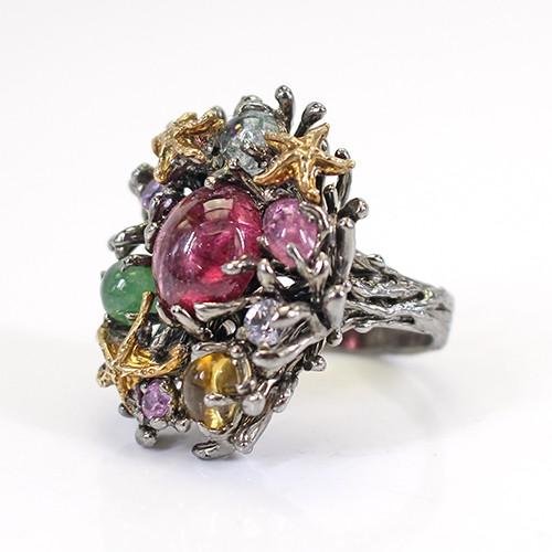 今季ブランド 天然石 〔K5-37-1〕 高級宝石リング オリジナル 世界一点物-指輪・リング