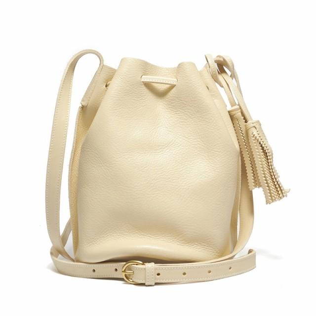 8f887f9981e7 イルビゾンテ IL BISONTE 巾着バッグ A2601 864 IVORY 本革 ホワイト アイボリー 白 ショルダーバッグ