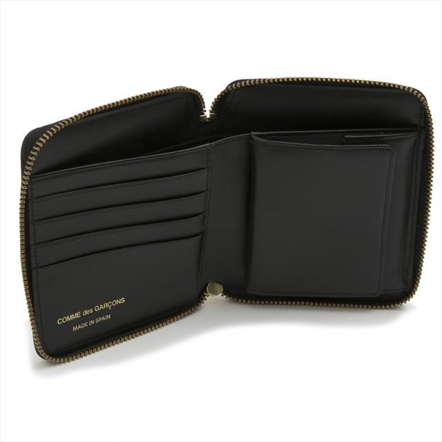 996b13d3c737 コムデギャルソン COMME des GARCONS 財布 SA2100LG LUXURY GROUP ラグジュアリーグループ  ラウンドファスナー二つ折り財布 ブラック