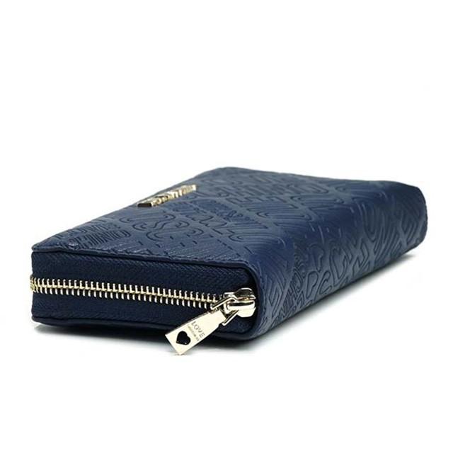 new style 3cb4e 49393 ラブモスキーノ 長財布 ブランド ラウンドファスナー レディース メンズ 財布 新品 30代 20代 大容量 カードポケット ファスナー財布