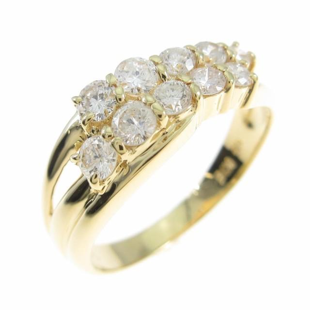 【人気急上昇】 【品】K18YG ダイヤモンドリング, felice vita e455c3f0