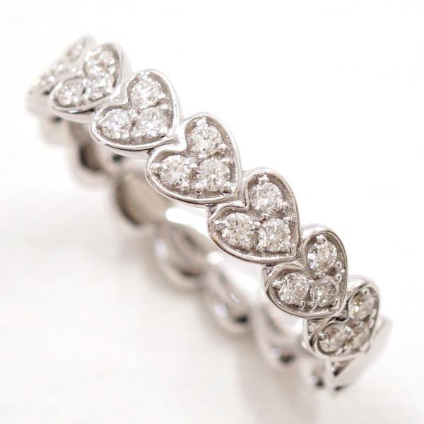人気ブランドの 18金 ジュエリー 14号 WG リング ホワイトゴールド K18 0.278 ダイヤ-指輪・リング