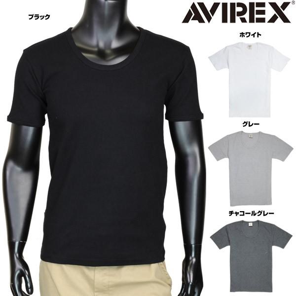 AVIREXTシャツ半袖Uネック無地デイリー