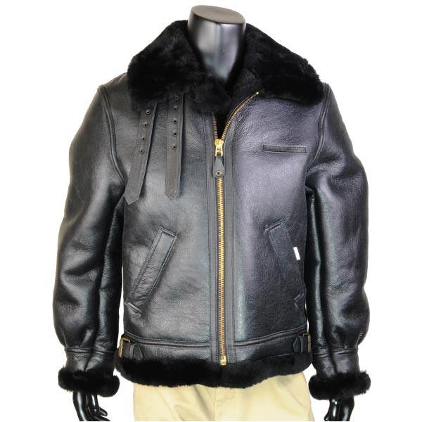 魅力的な価格 36サイズ [ ][411367] フライトジャケット ブラック ムートン B-3 AVIREX-ジャケット・アウター