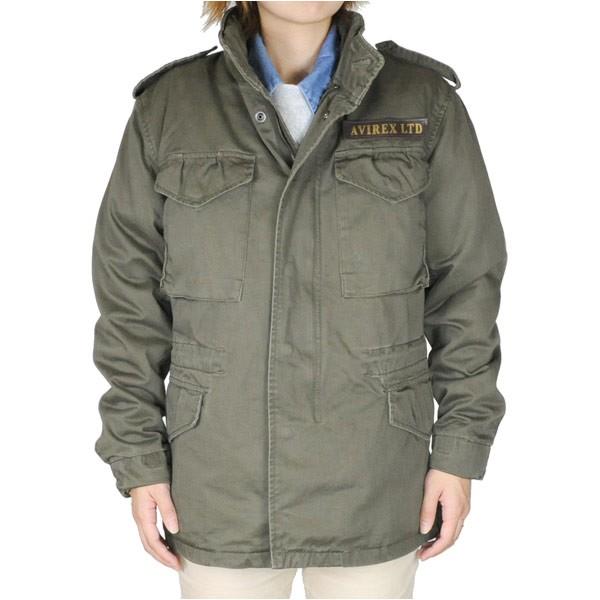 【信頼】 AVIREX M-65 フィールドジャケット [ オリーブグリーン / Mサイズ ][6122081075m], ヤスヅカマチ 14034d1d