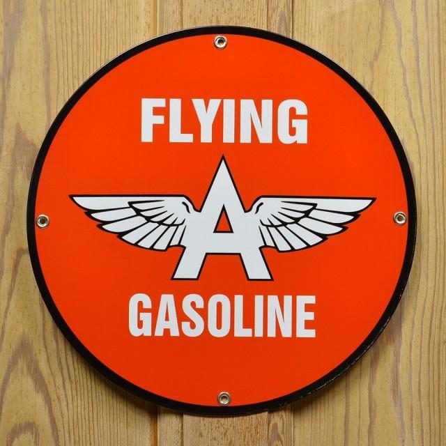 看板フライングAガソリン丸型30.5cm