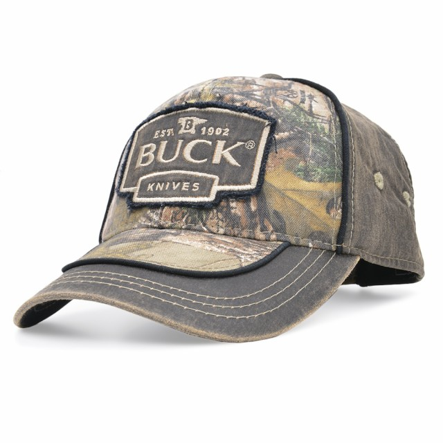 BUCK野球帽89087ロゴ入りリアルツリー