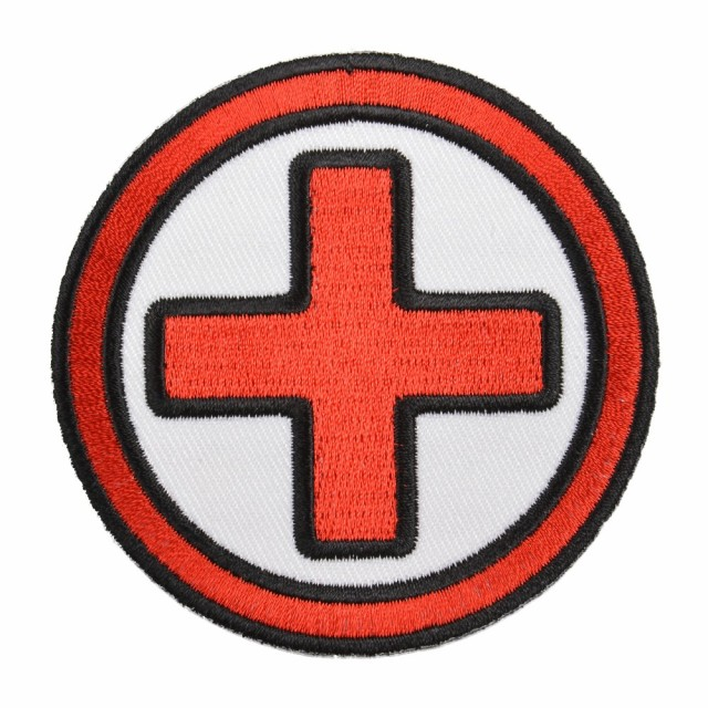 ミリタリーパッチ十字架Medicアイロンシート付
