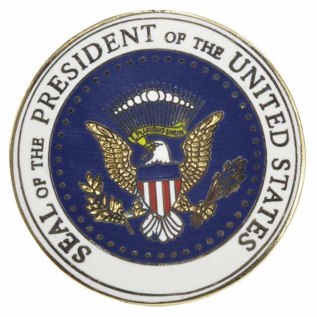 ピンバッジ アメリカ合衆国大統領 シンボルマーク[res41705]