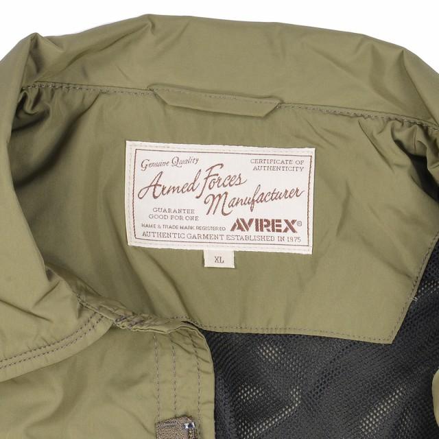 AVIREX ミリタリージャケット ジャングルファティーグ ポリエステル 6162115 [ オリーブ / 2XLサイズ ][61621150752xl]
