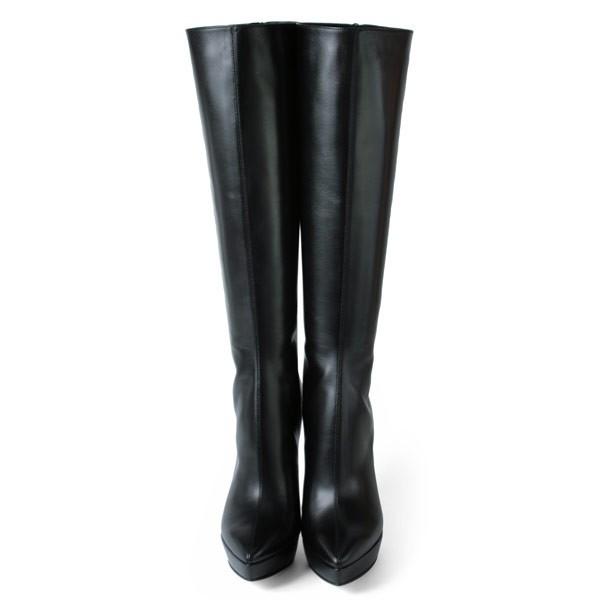 ブーツ コメックス ハイヒール 13cm ポインテッドトゥ ピンヒール ブラック COMEX レディース プラットフォーム 靴 (5548) 送料無料