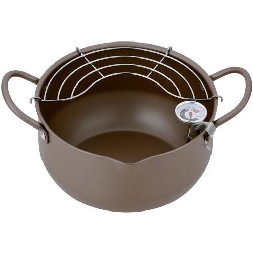 極み揚 温度計付深型揚げもの鍋 20cm FA-200 日本製  温度計付天ぷら鍋