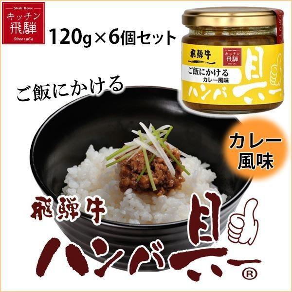 ご飯にかける飛騨牛ハンバ具ー カレー風味 120g×6個セット(支社倉庫発送品)