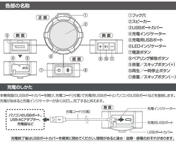 オーム電機 OHM Bluetoothワイヤレスアウトドアスピーカー ASP-W170N屋外でもワイヤレスで音楽をエンジョイできます