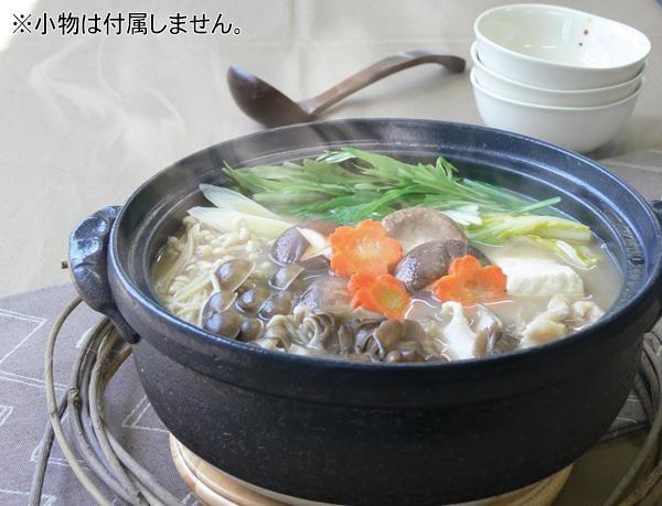 日本製 セラミック加工IH土鍋(IH・直火両用) 染付唐草 9号 3080-1855