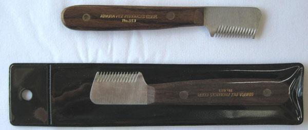 K-pro GROOMERシリーズ NO.613 トリミングナイフ 荒目  ペット用トリミングナイフ