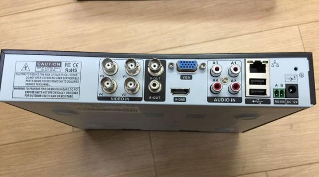 防犯カメラ・DVRレコーダーセット カメラ4台付属 P2P対応 スマホで遠隔監視・操作可能 1TBハードディスク装備 防水・暗視 DVR4CHDDset