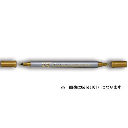 呉竹 ZIG メモリーシステム ライター メタリックカラーズ Green  (6本セット)