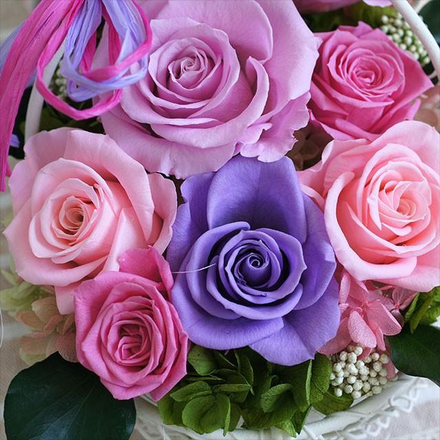 プリザーブドフラワー花かご