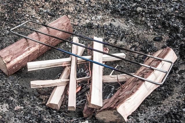 焚き火用 ゴトク Lサイズ たき火ゴトク S  純チタン中空パイプ  焚き火台 調理台 アウトドア サバイバル ブッシュクラフト キャンプ 登山 釣り