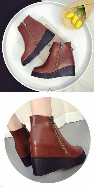 ブーツ レディース ショートブーツ 厚底 (bo-491) SALE