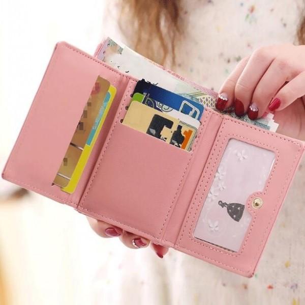 三つ折り財布 短財布 ミニ財布 コンパクト さいふ レディース 小銭入れ 収納 フェイクレザー 誕生日 ギフト プレゼント がま口 猫