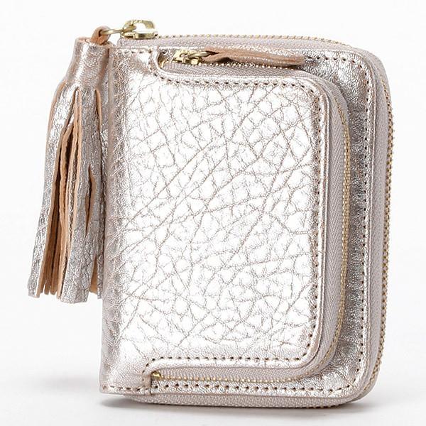 b07b313ee8b9 ペルケ(perche')/財布(厚口シープタッセル付き二つ折り財布)の通販は ...