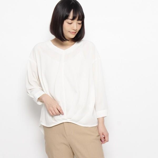サンカンシオン(レディス)(3can4on Ladies)/裾タック九分袖ブラウス