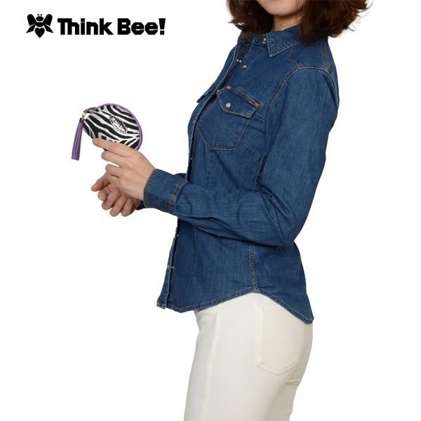 シンクビー(Think Bee!)/キャロル ミニポーチ(すみれ)