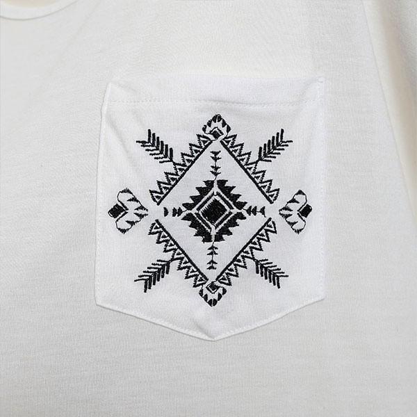 リュリュ(RyuRyu)/【Roger&Raw】ポケット刺しゅうゆるTシャツ