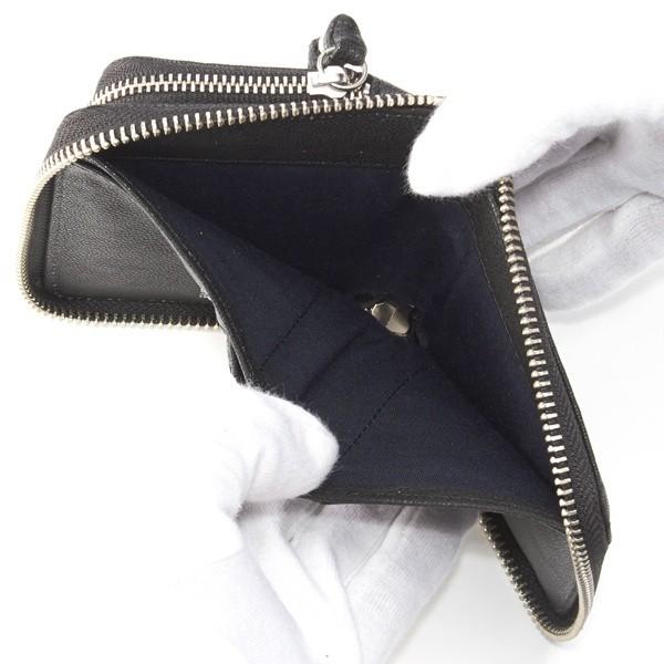 ペルケ(perche')/変形スタッズゴートオイルヌメラウンドハーフ財布