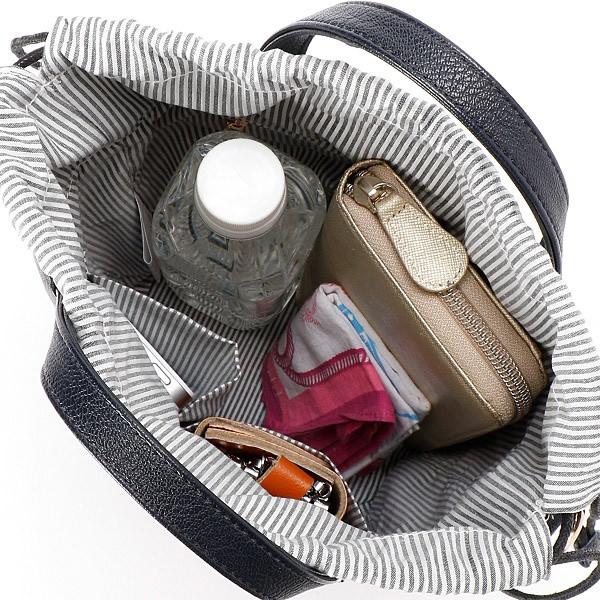 ビアデミゾン(Via Demizon)/ティペット付き2wayバケツ型バッグ
