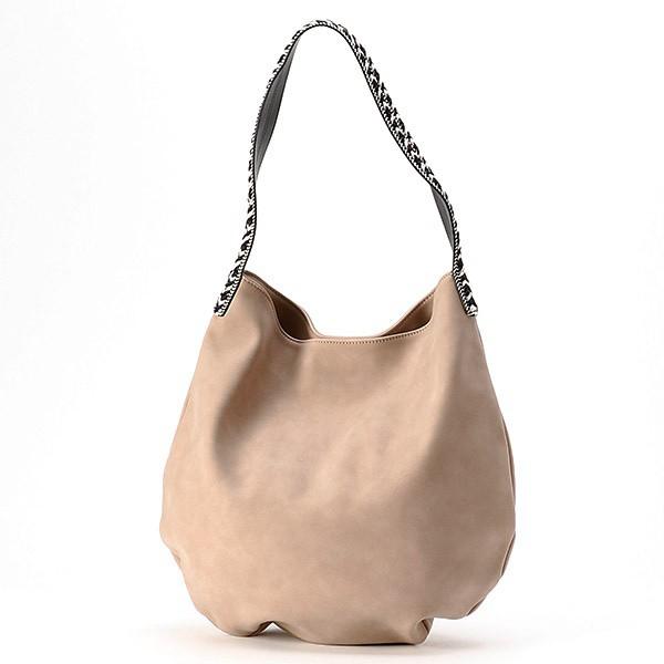 ラウゴア(Laugoa)/LAUGOA(ラウゴア)スムースフェイクレザー刺繍トートバッグ/Kreis
