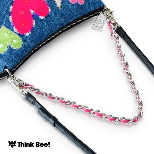 シンクビー(Think Bee!)/デニムハート 2ウェイショルダーバッグ
