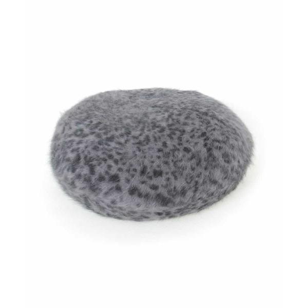 オフオン(OFUON)/レオパードベレー帽